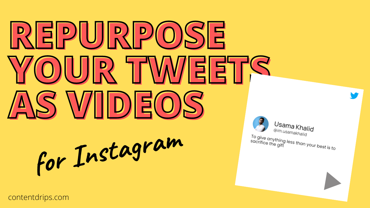 Repost your tweets as short videos for Instagram & Facebook.