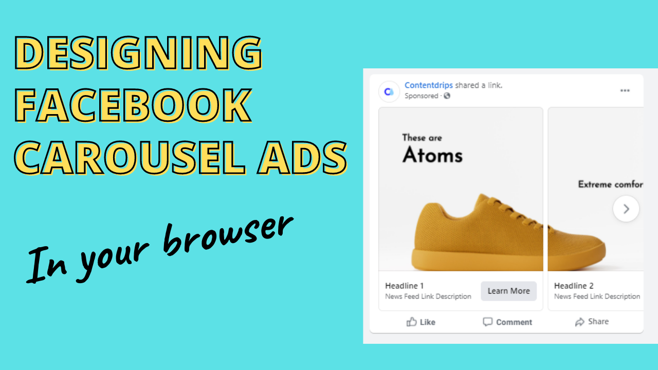 How to design eye catching carousel ads in your browser?