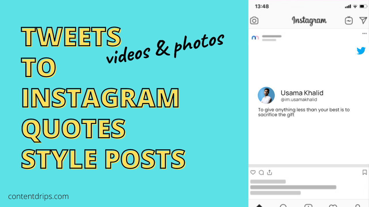 Turn your tweets into quotes for Instagram videos & photos.