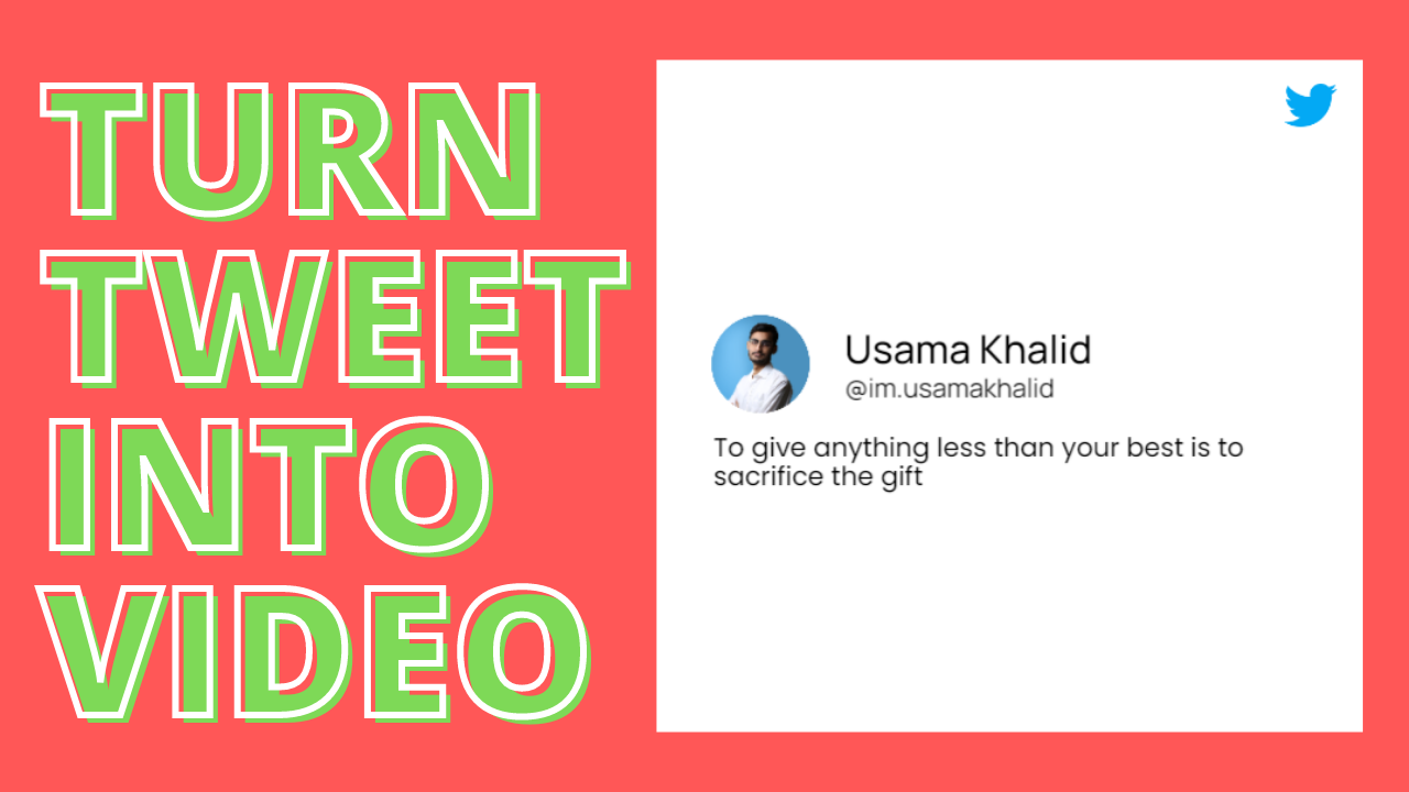 How to convert your tweet into small video for social media?
