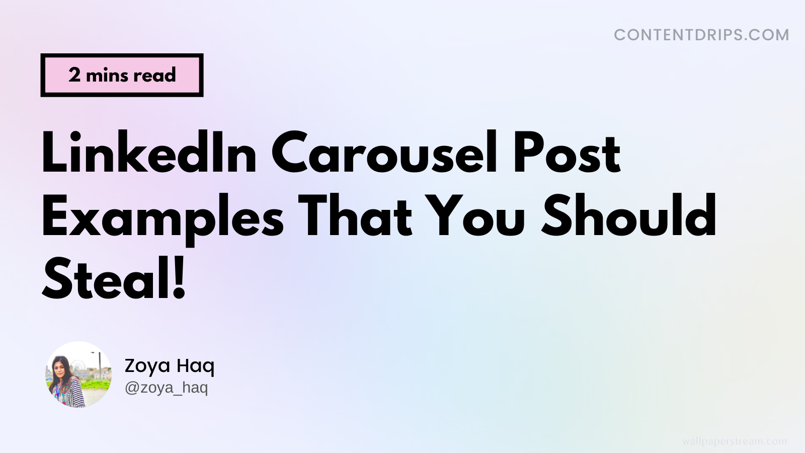 LinkedIn Carousel Post Examples That You Should Steal.