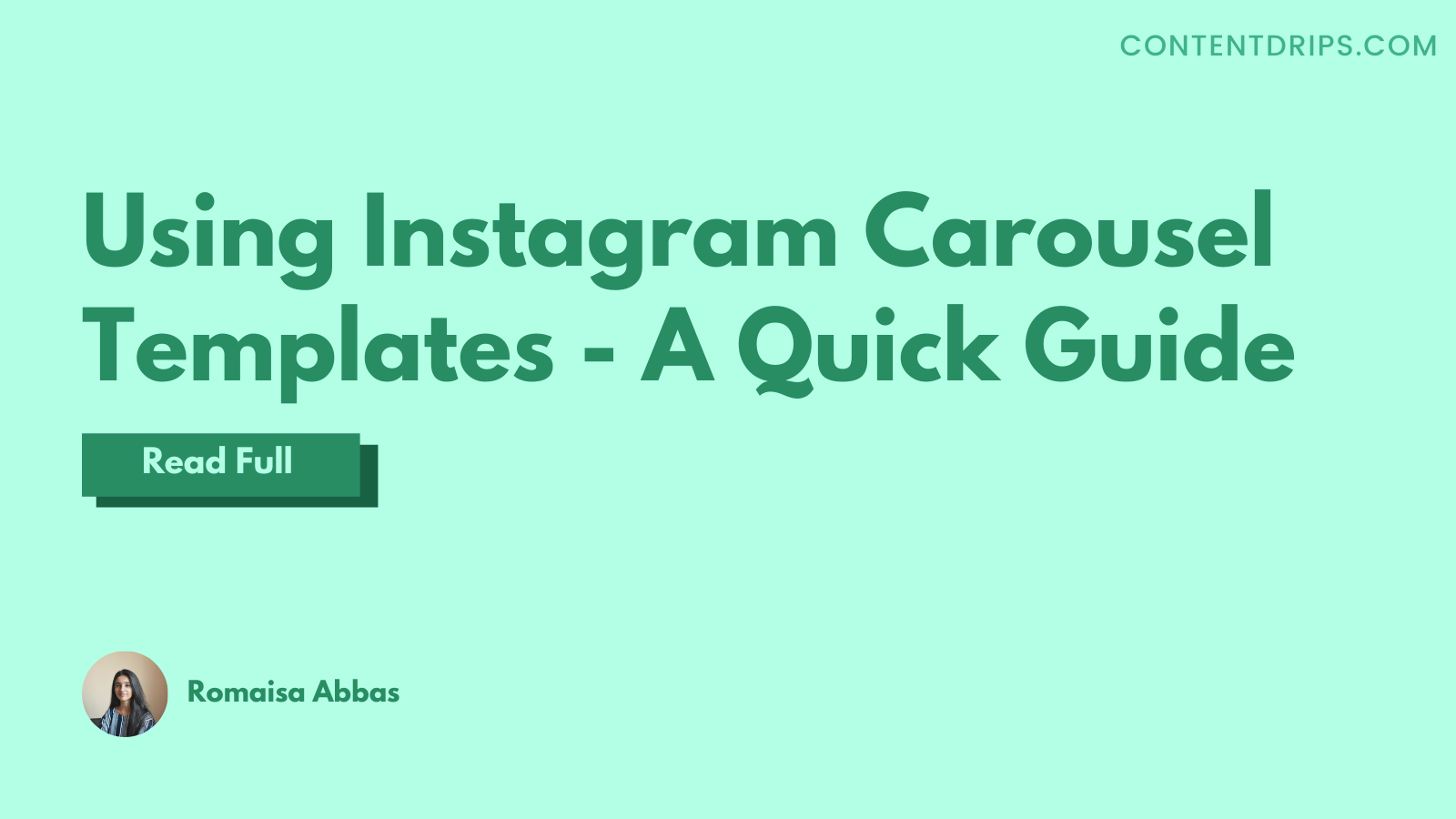 Using Instagram Carousel Templates: Quick Guide