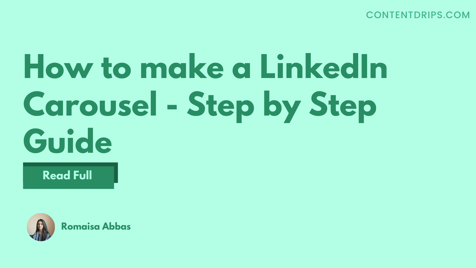 How to make a LinkedIn Carousel – Step by Step Guide