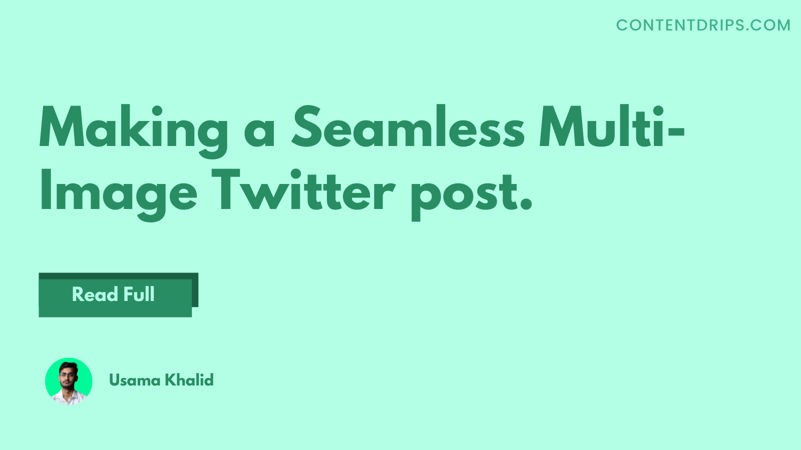 How to make seamless multi-image Twitter posts that gets more clicks?
