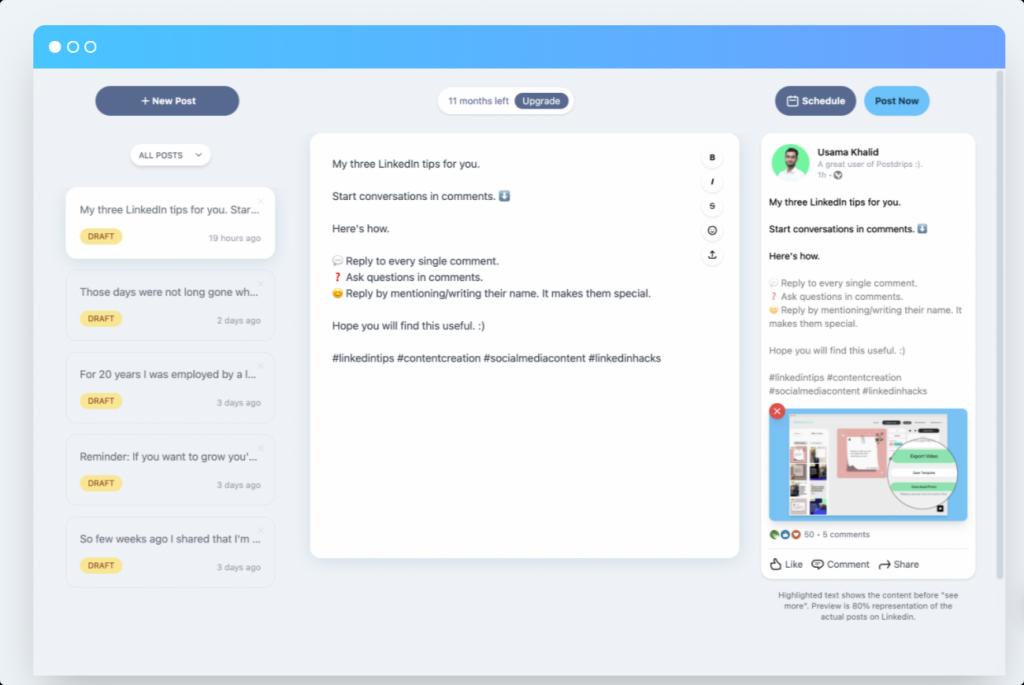 LinkedIn tool